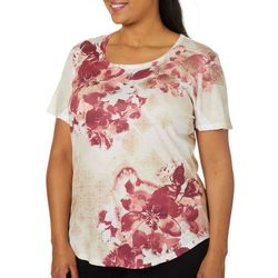 OneWorld Plus Tokyo Experience Embellished Floral Top