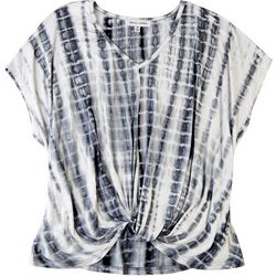 GRACE + KARMA Plus Tie Dye Front Twist Top