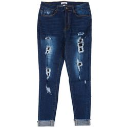 Between Us Apparel Womens Plus Ripped Cuff Jeans