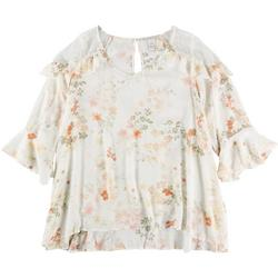 Plus Floral Top