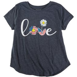 Ana Cabana Plus Love Quote Tshirt With Daisies