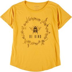 Stunner Plus Be Kind Bee Round Neck T-Shirt