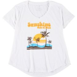 Ana Cabana Womens Plus Sunshine State Of Mind T-Shirt