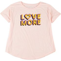 Ana Cabana Womens Plus Love More Round Neck T-Shirt