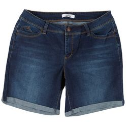 Royalty by YMI Plus WannaBettaButt Roll Cuff Denim Shorts