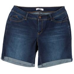 Plus WannaBettaButt Roll Cuff Denim Shorts