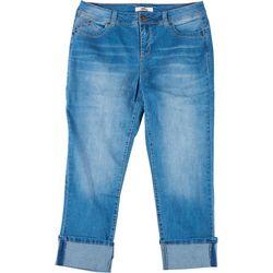 Royalty by YMI Plus WannaBettaButt Mega Cuff Ankle Jeans