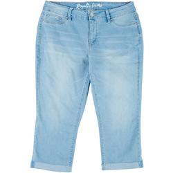 Plus Tummy Control Capri Jeans