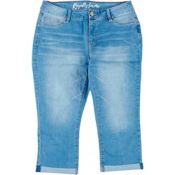 Royalty by YMI Womens Mid-Rise Crop Denim Jean