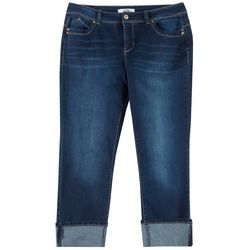 Royalty by YMI Plus WannaBettaButt Mega Cuff Ankle Jeans