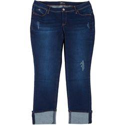 Royalty by YMI Plus WannaBettaButt Whisker Mega Cuff Jeans