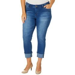 Royalty by YMI Juniors Plus WannaBettaButt Mega Cuff Jeans