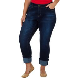 Royalty by YMI Juniors Plus WannaBettaButt Mega Cuff Jeans