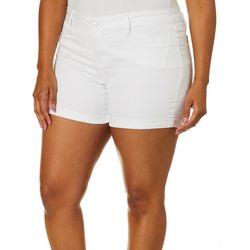 Royalty by YMI Plus Perfect Tummy Roll Cuff Shorts