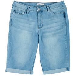 Plus WannaBettaButt Denim Bermuda Shorts