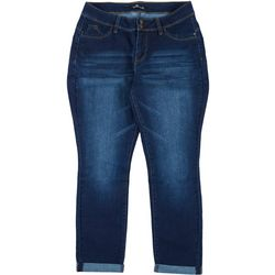 Royalty by YMI Plus Mid Rise Straight Cuffed Jeans