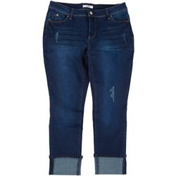 Royalty by YMI Plus WannaBettaButt Whisker Mega Cuff Jeans