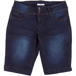Plus WannaBettaButt 3 Button Bermuda Shorts