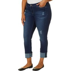 Royalty by YMI Plus WannaBettaButt Whiskered Mega Cuff Jeans