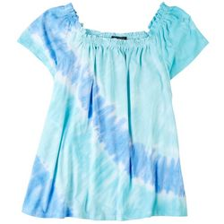 Tint & Shadow Plus Off The Shoulder Tie-Dye Top