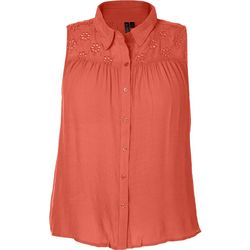 Tint & Shadow Plus Eyelet Yoke Sleeveless Top