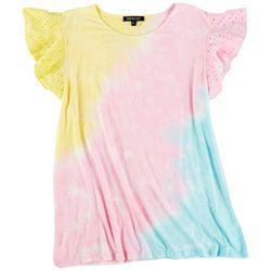Tint & Shadow Plus Tye Dye Ruffled Sleeve Top