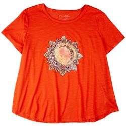Jessica Simpson Plus Solid Tshirt With Print On The Front