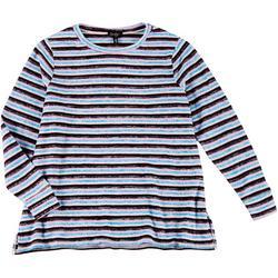 Plus Striped Pullover Sweater