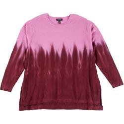 Plus Tie Dye Ombre Sweater