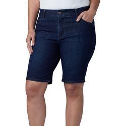 Lee Plus Denim Roll Cuff Bermuda Shorts