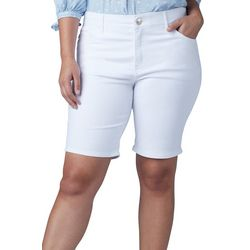 Lee Plus Denim Roll Cuff Bermuda Shorts