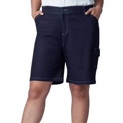 Lee Plus Flex-To-Go Denim Cargo Bermuda Shorts