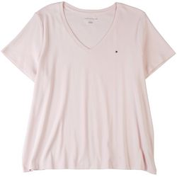 Tommy Hilfiger Plus Solid V-Neck T-Shirt