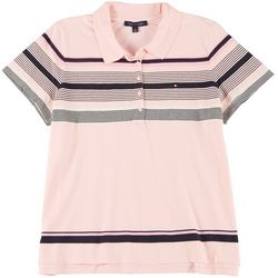 Tommy Hilfiger Plus Striped Polo Shirt