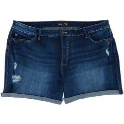 YMI Royalty Plus Cuffed Denim Shorts