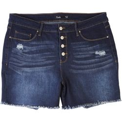 Royalty by YMI Plus Hide Your Muffin Top Button Fly Shorts