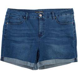 Royalty by YMI Plus Curvy Fit Distressed Shorts
