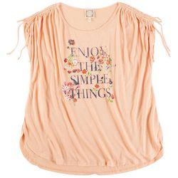 Tru Self Plus Enjoy The Simple Things Short Sleeve Top