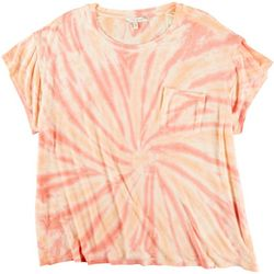 Tru Self Plus Tie Dye Pocket Short Sleeve Top