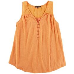 Plus Solid Lace Top Sleevless Top