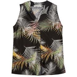 Lynn Ryan Plus Breezy Palm Leaves Sleevless Top