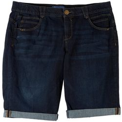 Democracy Womens Mid Rise Rolled Shorts