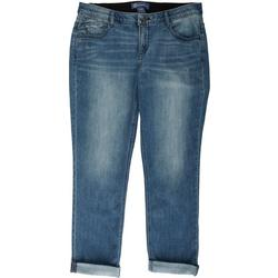 Plus Ab-Solution Cuffed Girlfriend Jeans