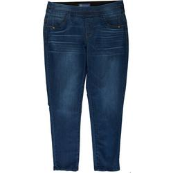 Womens Plus Ab-Solution Pull-On Glider Jeggings