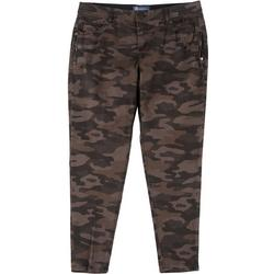 Plus Ab-Solution Cropped Mid-Rise Camo Jeans