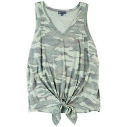Democracy Womens Solid Screen Printed Tank Top