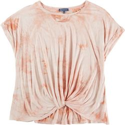 Democracy Womens Knotted Hemline Top