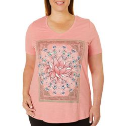 Mic & Jax Plus Lotus Flower Screen Print Top