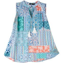 Cure Apparel Plus Patchwork Sleeveless Top