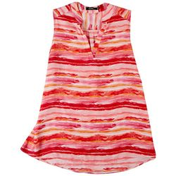 Cure Apparel Plus Striped Sleeveless Top